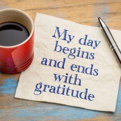 A life lived with gratitude