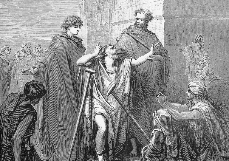 John And Peter Heal The Lame Man